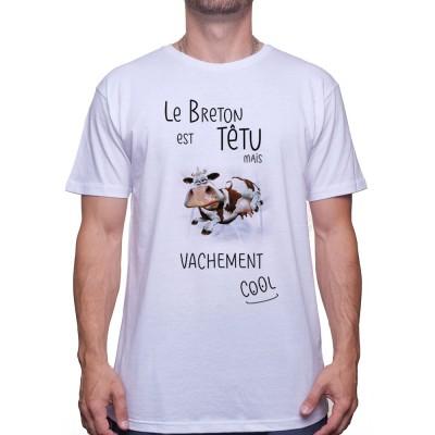 Le breton est tetu mais vachement cool - Tshirt T-shirt Homme