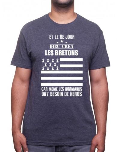Et le 8eme jours dieu crÈa les bretons - Tshirt T-shirt Homme