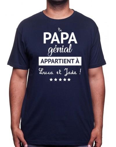 Ce papa génial appartient à - Tshirt Homme