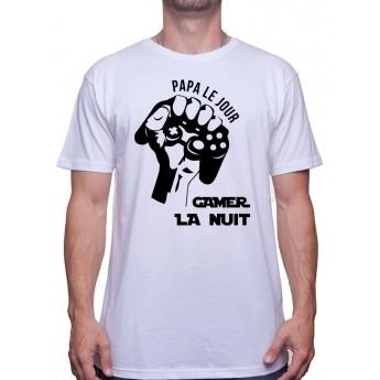 Papa le jour - Tshirt Tshirt Homme Gamer