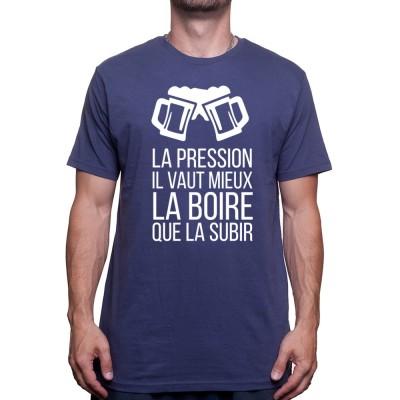 La pression vaut mieux la boire que la subir 1 - Tshirt T-shirt Homme