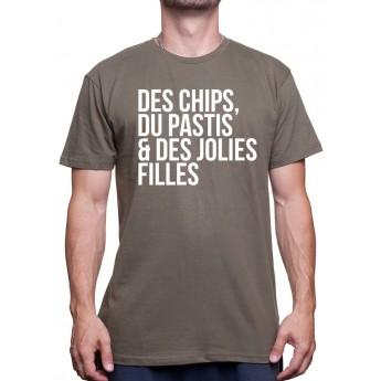 Chips Pastis Jolie fille - Tshirt Homme