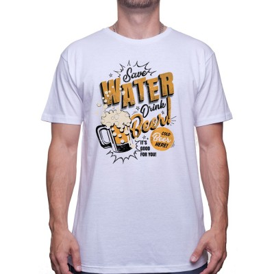 Save water drink beer - Tshirt T-shirt Homme
