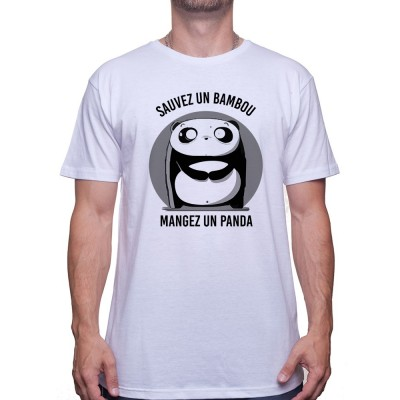 Sauvez un bambou mangez un panda - Tshirt Homme