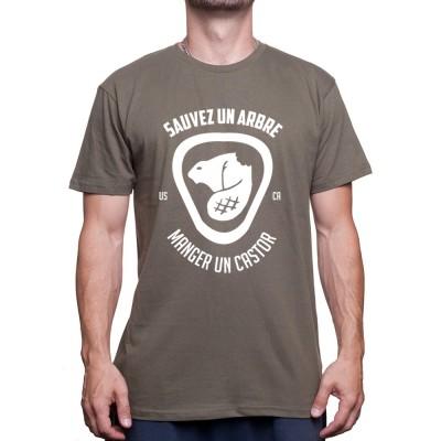 Sauvez un arbre mangez un castor - Tshirt Homme