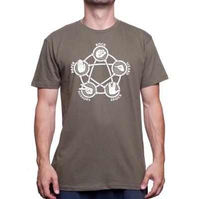 Rock paper lizard spok-Tshirt Homme