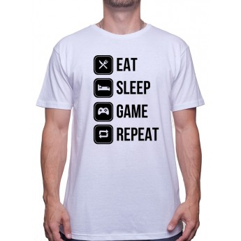 Eat, sleep, game and repeat - Tshirt Tshirt Homme Gamer