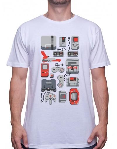 8 Bit Wallpaper - Tshirt Tshirt Homme Gamer