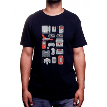 8 Bit Wallpaper - Tshirt Tshirt Homme Gamer