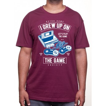 Grew Up On The Game - Tshirt Tshirt Homme Gamer