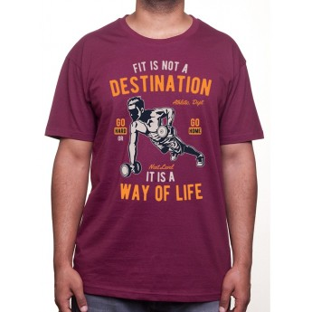 Fit Is Not A Destination - Tshirt Tshirt Homme Sport