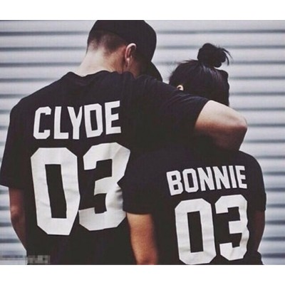 Bonnie & Clyde ? Tshirt Duo Couple Couple