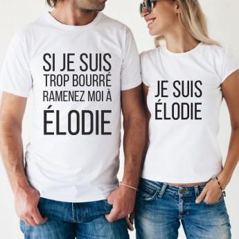 Tshirt Couple Personnalisable – Si je suis trop bourré ? – Shirtizz Tshirt Couple