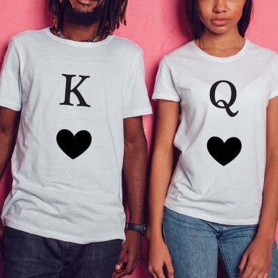 Tshirt Couple – Lot King & Queen of Heart – Shirtizz Couple