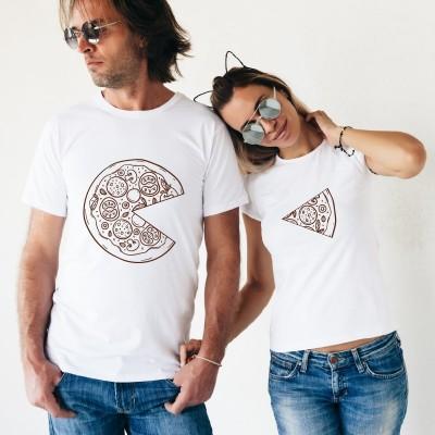 Tshirt Couple – Une pizza à deux – Shirtizz Couple