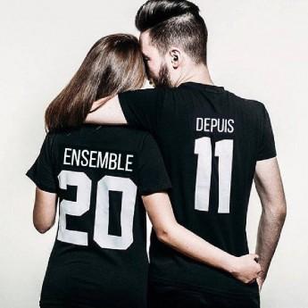 Ensemble Depuis – Tshirt Duo Personnalisable