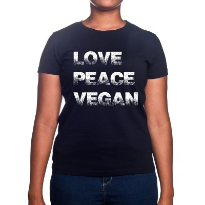 Love Peace Vegan - Tshirt