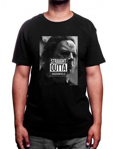 straight outta haddonfield - Tshirt Homme