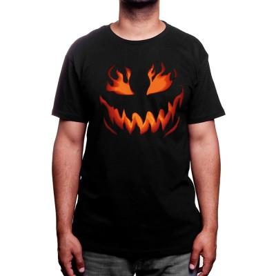 Halloween Flame Pumpkin - Tshirt Homme
