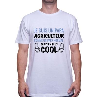 Je suis un papa agriculteur - Tshirt Humour Agriculteur T-shirt Homme