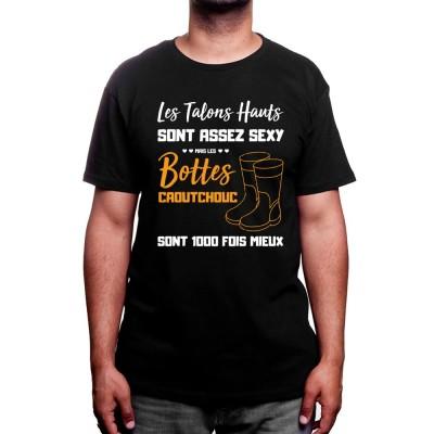 Les bottes c'est mieux - Tshirt Humour Agriculteur T-shirt Homme