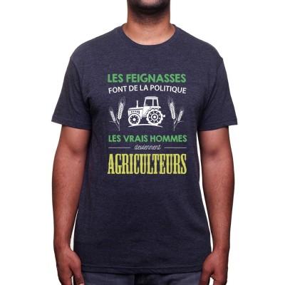Les vrais hommes deviennent agriculteurs - Tshirt Humour Agriculteur T-shirt Homme
