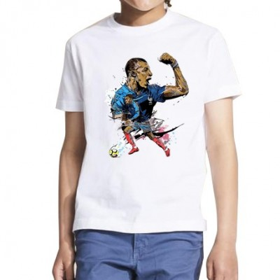 Mbappe art - Tshirt foot Enfant