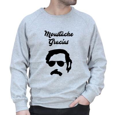 Moustache Gracias Pablo - Sweat Homme