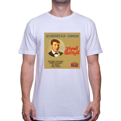 Vinyle - Tshirt Johnny Halliday Homme