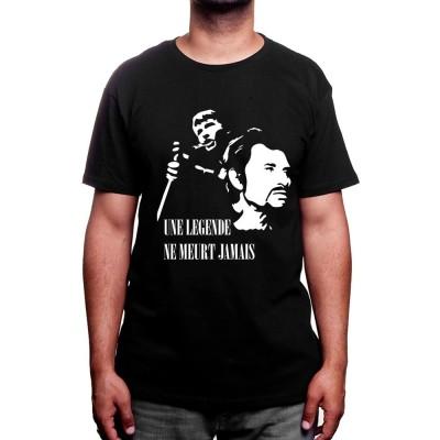 Une legende ne meurt jamais - Tshirt Johnny Halliday Homme
