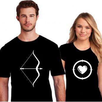 Tshirt Couple – Arc et Cible – Shirtizz Couple