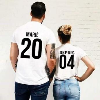 Tshirt Couple – Marié depuis – Shirtizz Couple