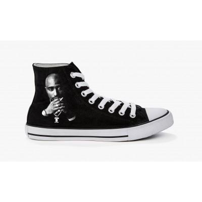 Sneakers 2 pac Noir et Blanc Black