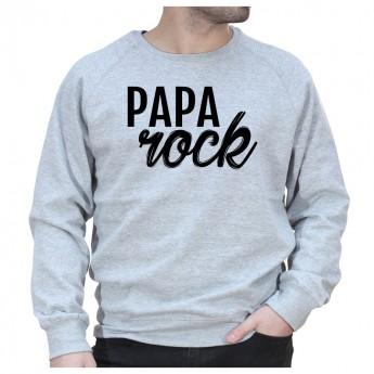 Papa Rock - Sweat col rond (Crewneck) Sweat Homme
