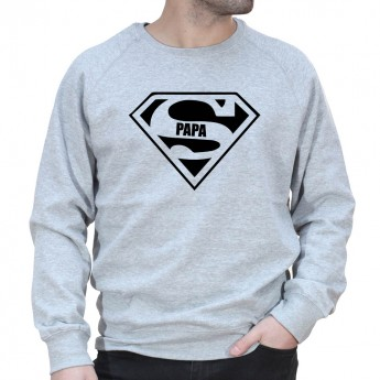 Super Papa - Sweat col rond (Crewneck) Sweat Homme