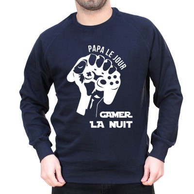 Papa le jour - Sweat col rond (Crewneck) Sweat Homme