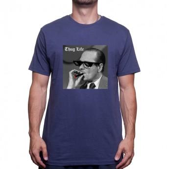 Jacques Chirac Fume Thug LIFE T-shirt Homme
