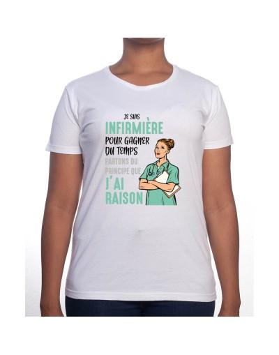 Je suis Infirmiere pour gagner du temps disons que j'ai raison - Tshirt Femme Infirmière Tshirt femme Infirmière