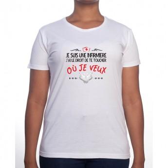 Je suis un infirmiere je suis autoriser a te toucher ici - Tshirt Femme Infirmière Tshirt femme Infirmière