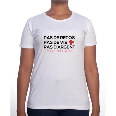 No sleep no life no money - Tshirt Femme Infirmière