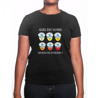 Quel est ton niveau de douleur - Tshirt Femme Infirmière Tshirt femme Infirmière