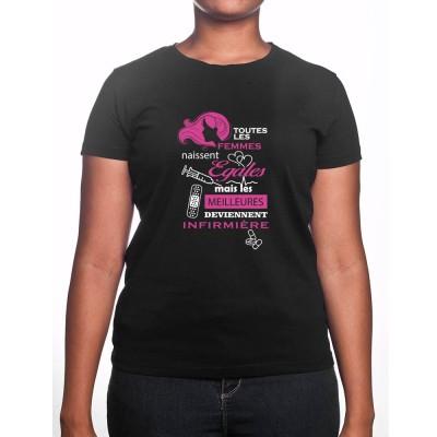toutes les femmes-naissent-egaux meilleures infirmiere - Tshirt Femme Infirmière