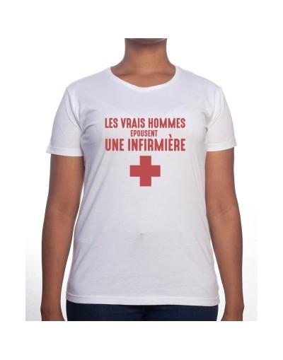 Vrais hommes marient une infirmière - Tshirt Femme Infirmière Tshirt femme Infirmière