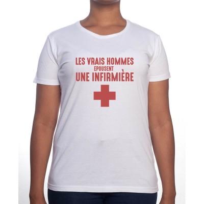 Vrais hommes marient une infirmière - Tshirt Femme Infirmière