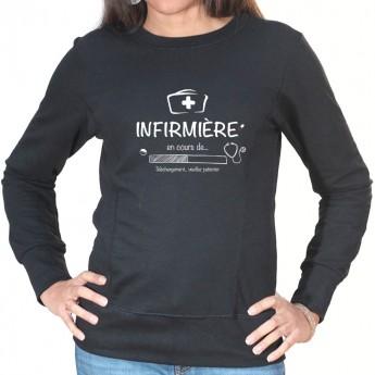 Infirmiere in progress - Sweat Femme Infirmière Sweat crewneck femme Infirmière