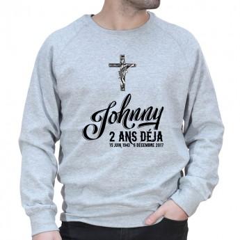 Anniversaire mort Johnny Déjà 2 ans - Sweat Crewneck Homme Johnny Sweat Crewneck Homme Jonny