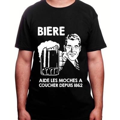 Biere aide les moches a baiser depuis 1856 – Tshirt Homme Alcool