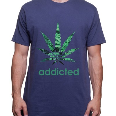 Addicted - Tshirt Homme Weed Tshirt Weed Homme