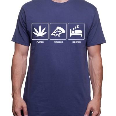 Fumer Manger Dormir - Tshirt Homme Weed Tshirt Weed Homme