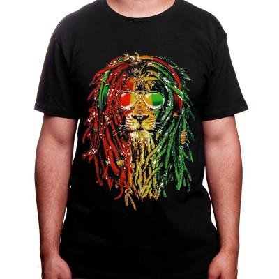 Rasta Lion - Tshirt Homme Weed Tshirt Weed Homme